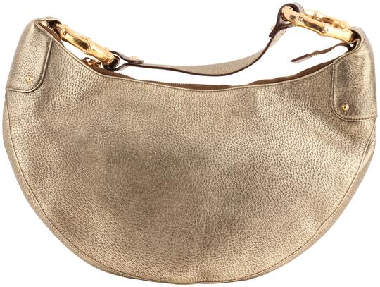 Preload https://item4.tradesy.com/images/gucci-half-moon-pebbled-bamboo-ring-gold-leather-hobo-bag-10583578-0-4.jpg?width=440&height=440