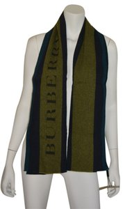 Burberry NWT BURBERRY $425 FELT STRIPE WOOL SCARF WRAP MADE IN ITALY