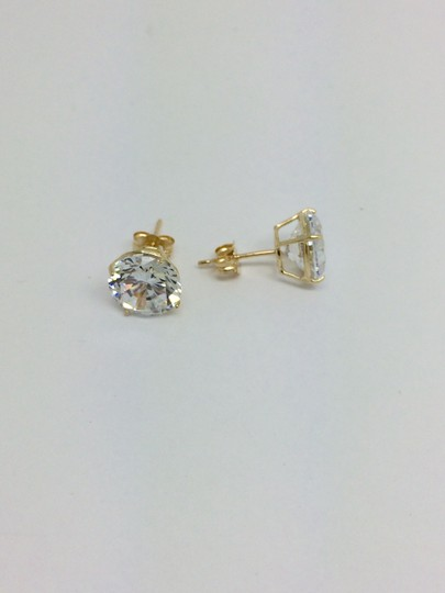 Other 14K Yellow Gold CZ Stud Earrings 8mm
