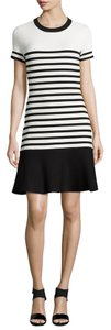 Kate Spade Stripe Striped Work Night Out Date Night Stretchy Stretch Xs Nwt Tags New New Scuba Fit Flare Dress