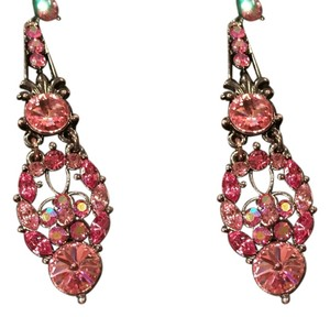 Express Express Pink Crystal Drop Earrings