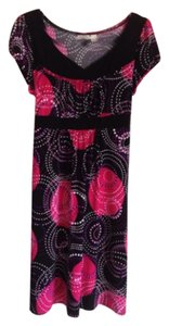 Cato short dress Black red white pink & purple on Tradesy