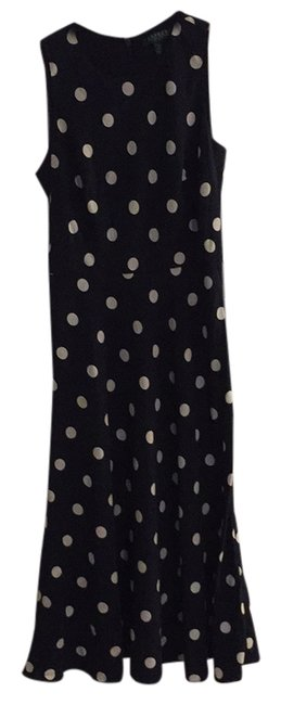 Item - Navy and White Long Work/Office Dress Size 2 (XS)