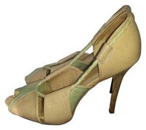 L.A.M.B. Gwen Stefani Tan Rope Patent Cream Pumps