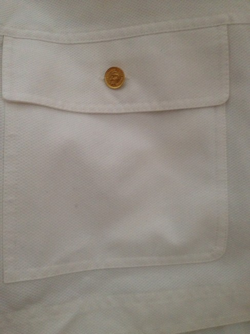 Chanel France Cotton Cropped Oversize White Womens Jean Jacket