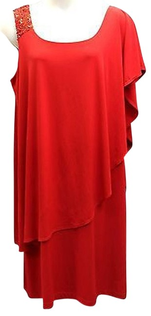 Preload https://img-static.tradesy.com/item/10584820/ginger-and-java-red-stretch-asymmetrical-sleeves-cocktail-shift-2x-mid-length-night-out-dress-size-2-0-2-650-650.jpg