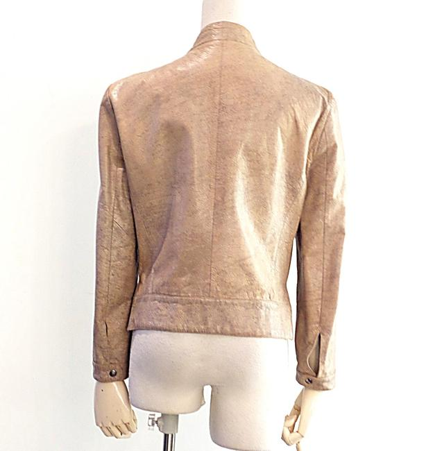 Giorgio Armani Taupe Leather Jacket Image 1
