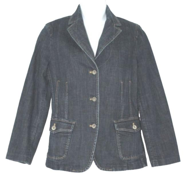 Preload https://img-static.tradesy.com/item/10584940/faconnable-blue-stretch-buttoned-cotton-jean-denim-jacket-size-2-xs-0-1-650-650.jpg
