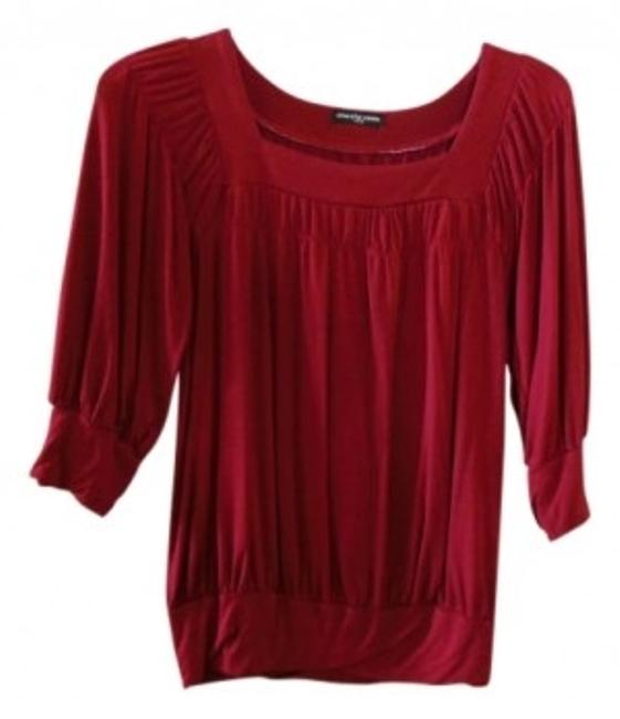 Preload https://item1.tradesy.com/images/cha-cha-vente-red-burgundy-knit-with-smocking-blouse-size-4-s-10585-0-0.jpg?width=400&height=650