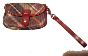 Dooney & Bourke And Medium Snap Close Wristlet in Brown plaid