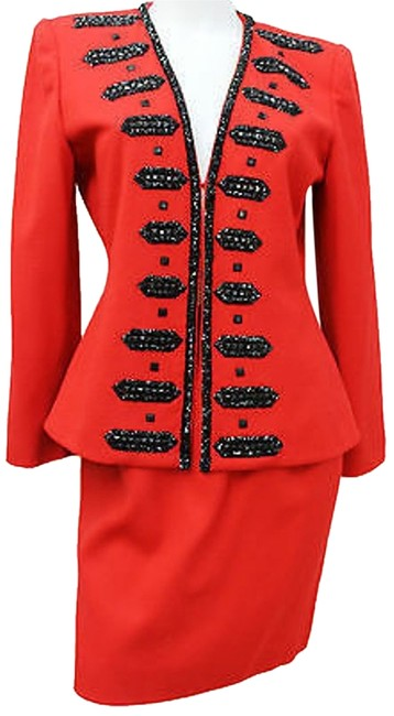 Preload https://item5.tradesy.com/images/red-embellished-wool-cocktail-skirt-suit-size-6-s-10585234-0-2.jpg?width=400&height=650