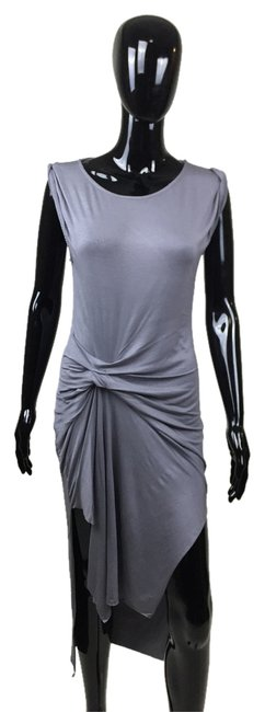 Grey Maxi Dress by Other Cinched Short Sleeve