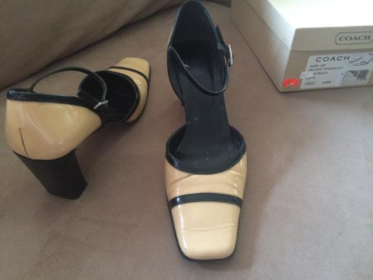 Coach Black and Camel Pumps