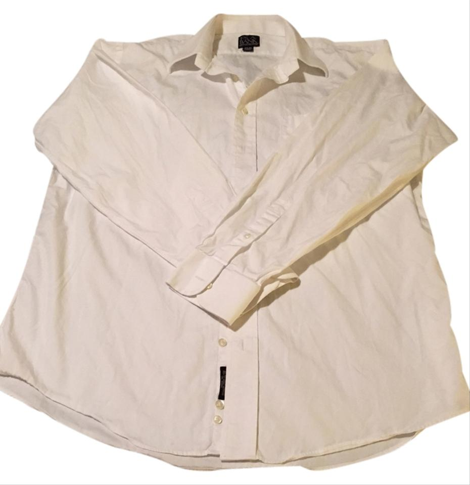 Jos A Bank White Men 39 S Dress Shirt Button Down Shirt