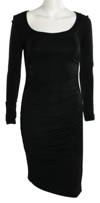 Preload https://img-static.tradesy.com/item/10585453/dolce-and-gabbana-black-ruched-knee-length-cocktail-dress-size-6-s-0-1-650-650.jpg
