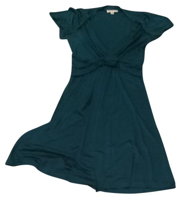 Item - Green Silk Mid-length Formal Dress Size 8 (M)