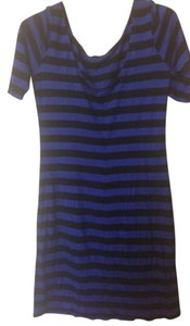 Eight Sixty short dress blue and black stripe on Tradesy