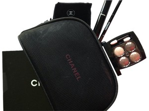 "Chanel CHANEL "" Les 4 Ombres Quadra Eye Shadow"" Mascara Espresso Eyeliner MAKE UP CASE"