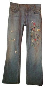 A.B.S. by Allen Schwartz Boot Cut Pants Denim with colorful embroidery