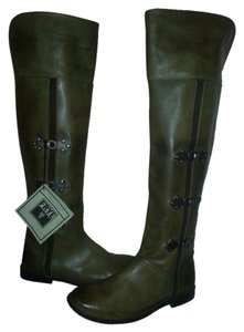 Frye Riding Equestrian Leather Buckles Extra Tall Brown Boots
