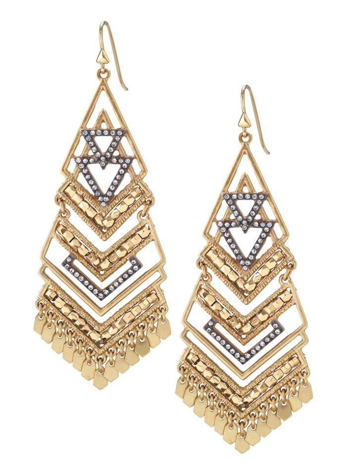 Stella dot gold new horizon statement chandelier earrings tradesy stella dot horizon statement chandelier earrings aloadofball Choice Image