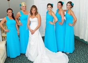 David's Bridal Malibu Blue David's Bridal Malibu Blue Dress Dress