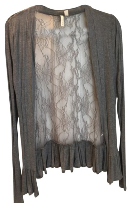 Preload https://item4.tradesy.com/images/frenchi-grey-sweaterpullover-size-12-l-10586968-0-1.jpg?width=400&height=650