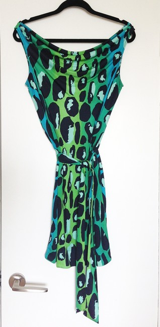 Diane von Furstenberg Night Out Date Night Animal Print Dvf Silk Dress