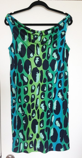 Diane von Furstenberg Night Out Date Night Animal Print Bright Dvf Silk Dress