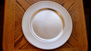 """Koyal Wholesale Silver 13"""" Beaded Charger Plates (100 Count) Tableware"""