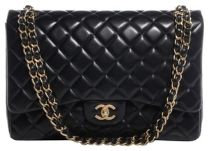 Chanel Classic Flap 2.55 Maxi Double Shoulder Bag