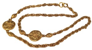 Chanel Gold CC Medallion Necklace