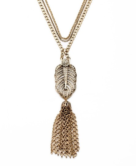 Other Feather Stone Pendant Necklace