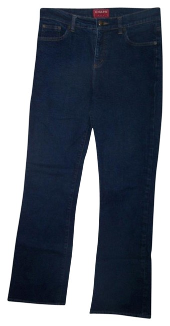 Preload https://item1.tradesy.com/images/chaps-size-6-casual-rise-straight-leg-jeans-dark-rinse-1058780-0-4.jpg?width=400&height=650