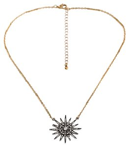 Private Collection Sunburst Pave Stone Necklace
