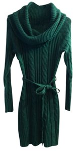Jessica Simpson Sweater Cable Cowl Neck Sweater Dress