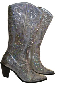 Helen's Heart Sequin Glam Sequin Glam Cowgirl Sequin Cowgirl Cowgirl Sequin Bridal Silver Boots