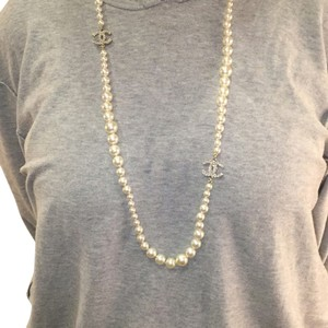 Chanel Chanel Double CC Long Pearl Necklace