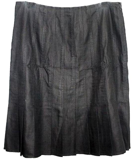 Preload https://img-static.tradesy.com/item/10588663/kay-unger-black-woven-cotton-pleated-size-12-l-32-33-0-1-650-650.jpg