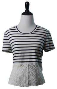 Rachel Roy Top Blue White