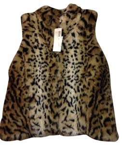 Chico's Faux Fur Fur Animal Print Vest