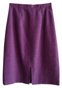 Xiao Linen Italian Pencil Skirt Purple
