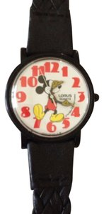 Disney Disney Lorus MICKEY MOUSE Fun Find Collectable Red Numeral Black Case Classic