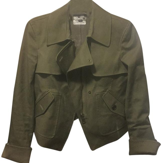 Preload https://item3.tradesy.com/images/ann-taylor-army-green-blazer-size-0-xs-10589032-0-1.jpg?width=400&height=650