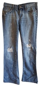Roxy Distressed Size 3 Boot Cut Jeans-Distressed