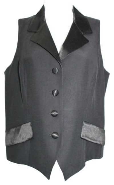 Preload https://img-static.tradesy.com/item/10589290/black-satin-trim-vest-size-10-m-0-1-650-650.jpg