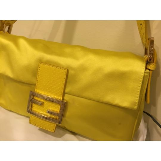 Fendi Satin Evening Gold Hardware Baguette