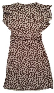 Tory Burch short dress leopard Vintage Gladys Silk Dolman Sleeves on Tradesy