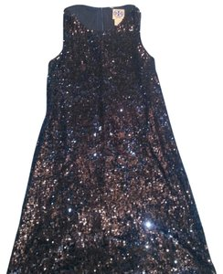 Tory Burch Sequin Brown Mini Fancy Classy Dress