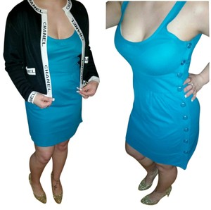 Marc by Marc Jacobs short dress Teal/ blue Button on Tradesy